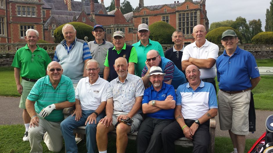 2nd Day ..Rolls of Monmouth GC..Full group minus Photo Taker 'some good rounds some not.'