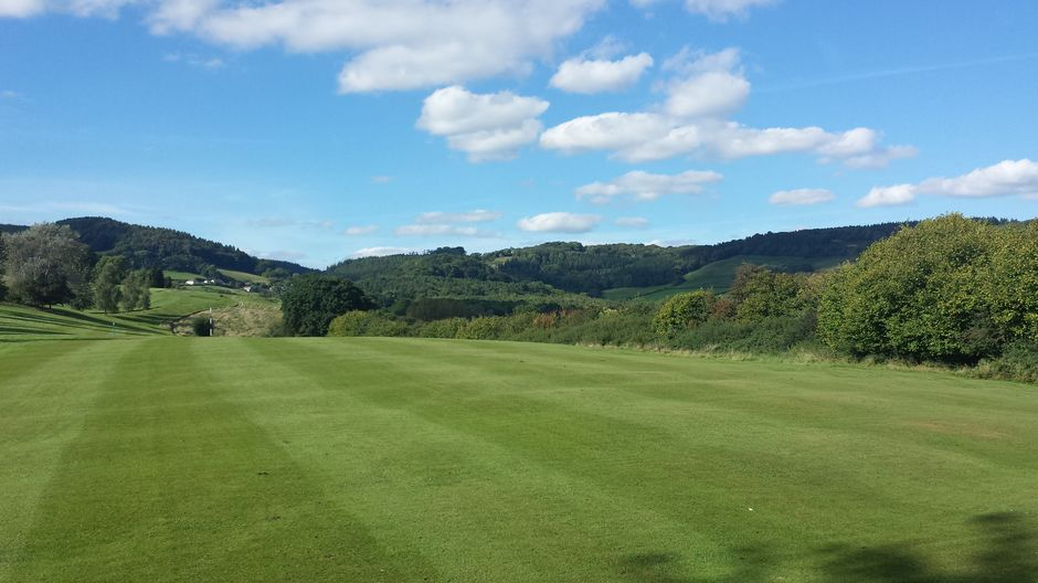 Monmouth GC..Nearly done..looking back from 17th faiway.